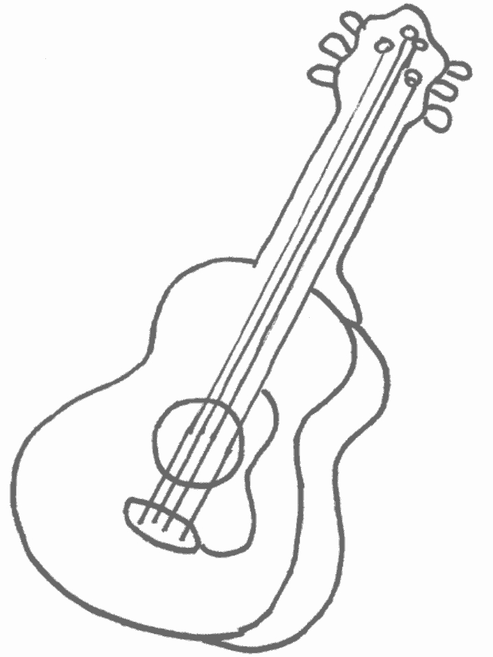 guitar coloring page - guitar coloring pages for kids