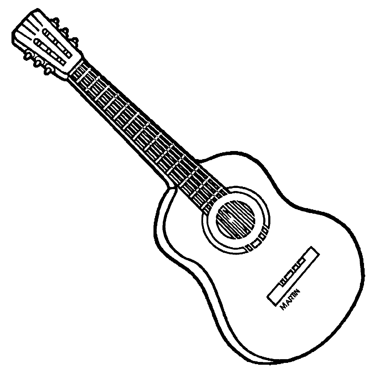 guitar coloring page - coloring pages guitar