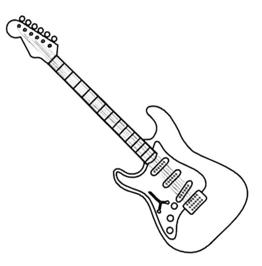 guitar coloring page - electric guitar coloring page