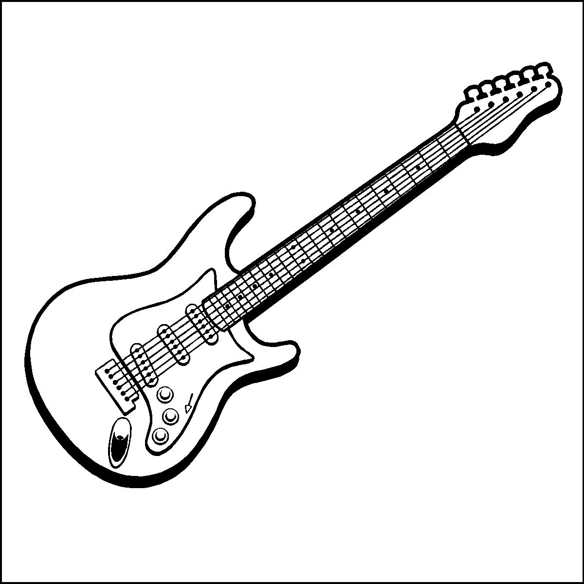 guitar coloring page - q=guitar outline