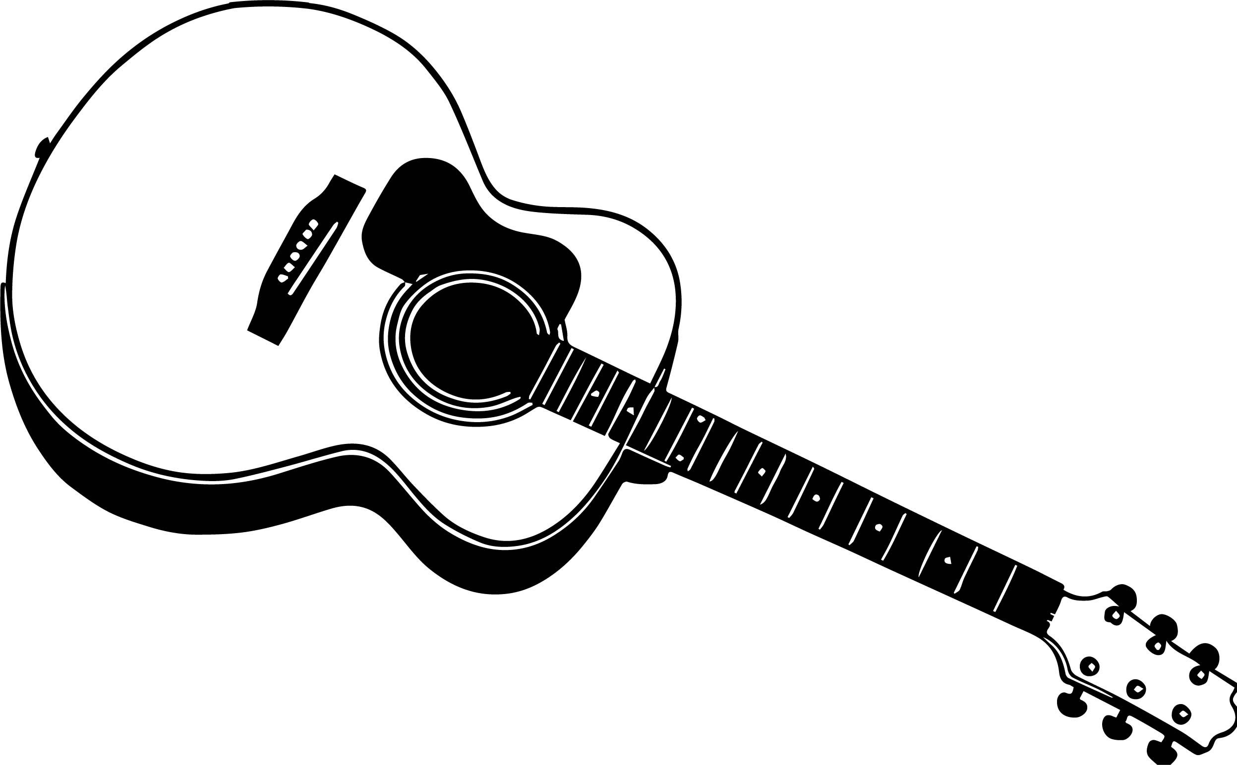 23 guitar coloring page images