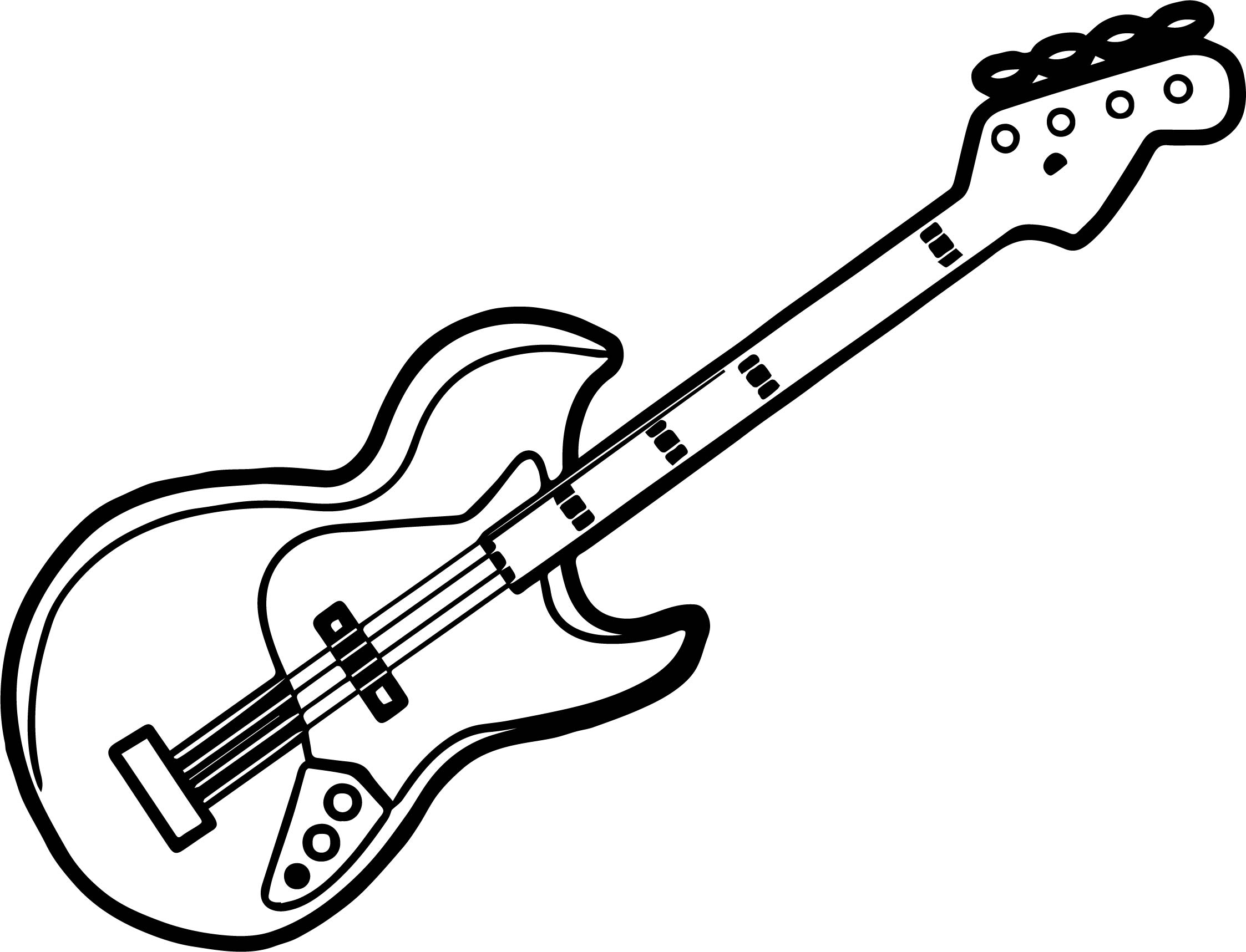 guitar coloring page - perfect just guitar coloring page