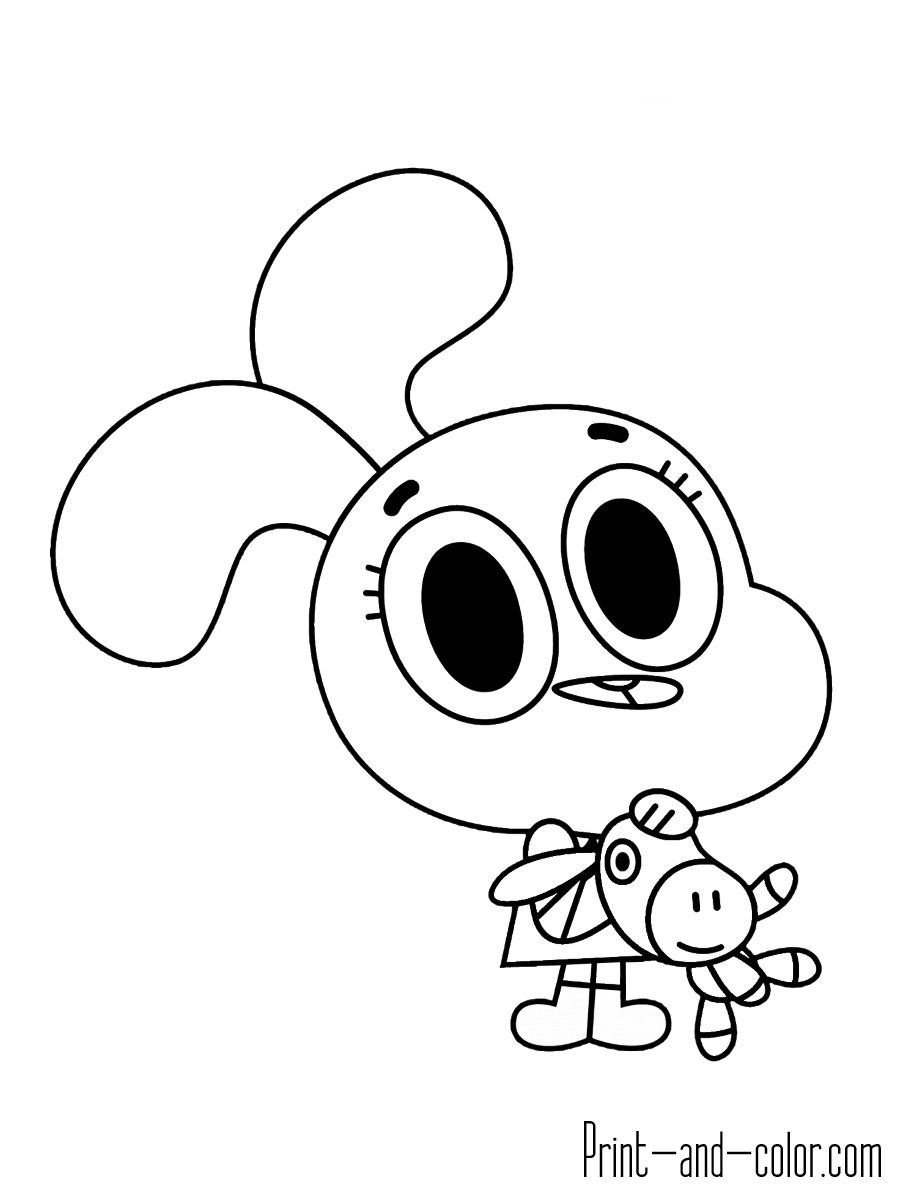 20 Gumball Coloring Pages Selection Free Coloring Pages