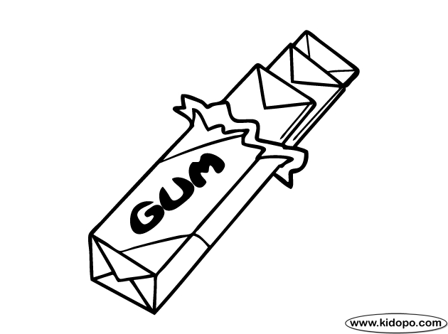 gumball machine coloring page - q=gum candy