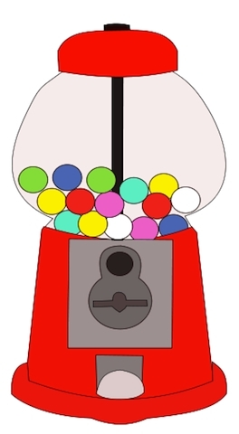 Gumball Machine Coloring Page - Gumball Machine Clipart Clipart Best
