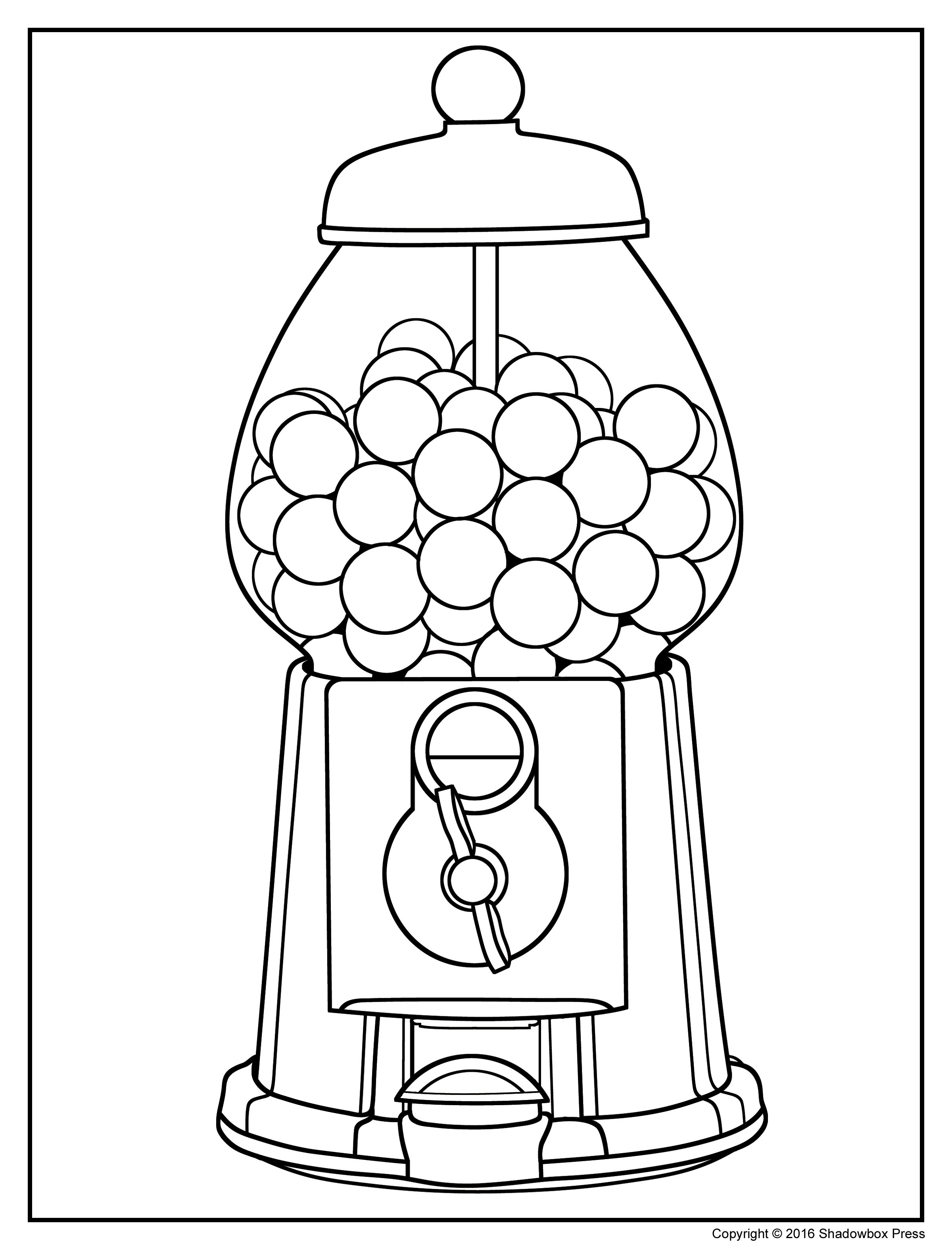 gumball machine coloring page - to print simple machines coloring pages 96 with additional free colouring pages with simple machines coloring pages