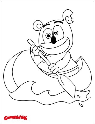 gummy bear coloring page - color gummibär