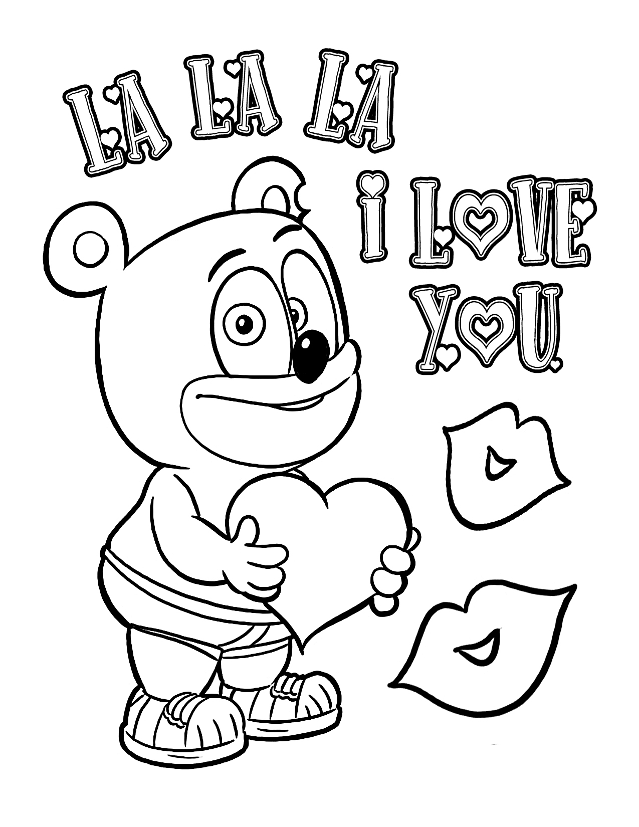 gummy bear coloring page - coloring page