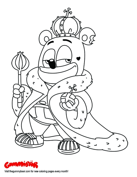 23 Gummy Bear Coloring Page Images FREE COLORING PAGES Part 2