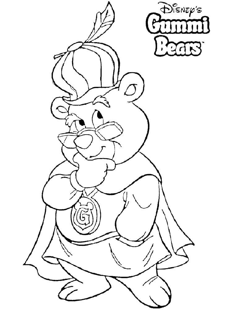 gummy bear coloring page gummi bears coloring pages - Bears Coloring Pages 2