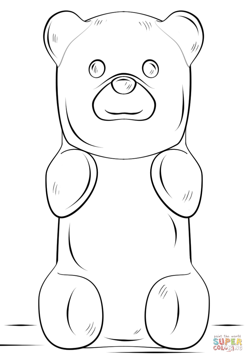 gummy bear coloring page - gummy bear