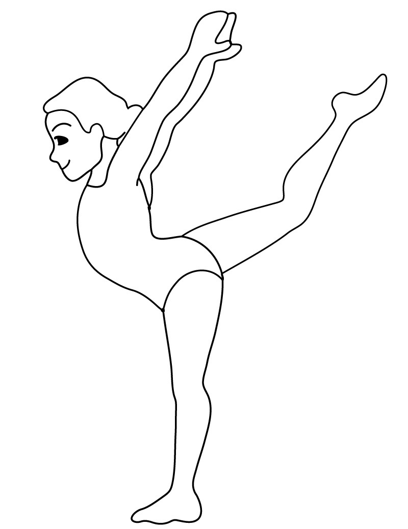 Gymnastics Coloring Pages - Free Printable Gymnastics Coloring Pages for Kids