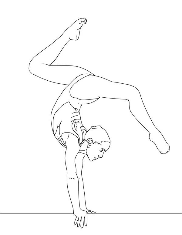 gymnastics coloring pages - printactivities ColoringPages SummerOlympics Coloring Pages gymnast