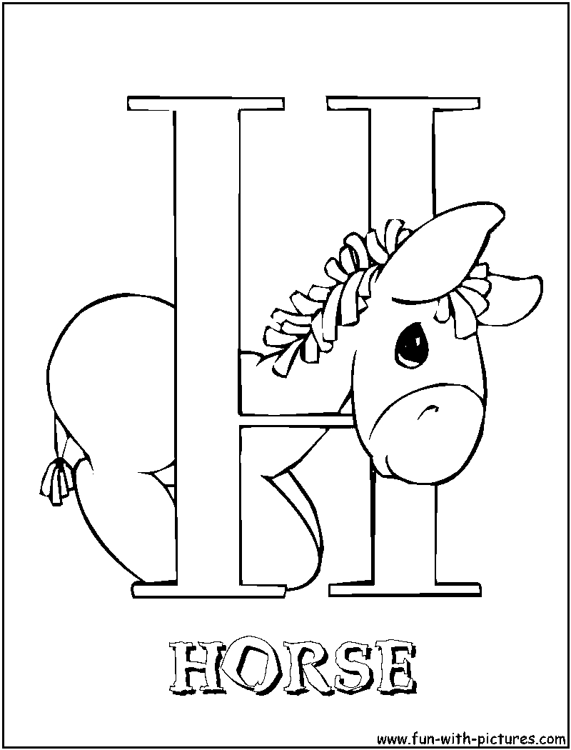 h coloring page - r=letters h