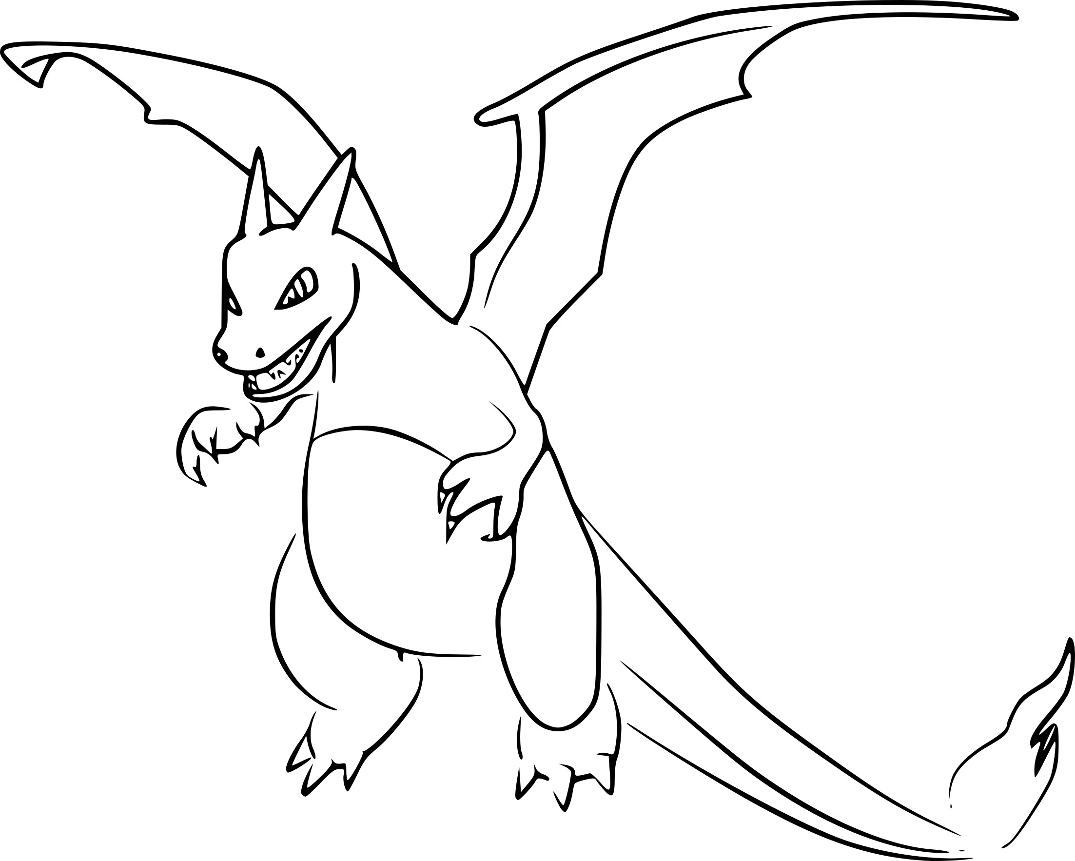 hair coloring pages - dracaufeu pokemon go