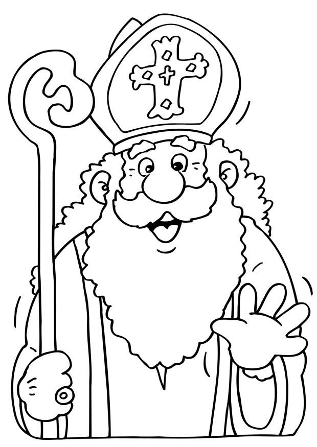 hair coloring pages - saint nicolas dessin