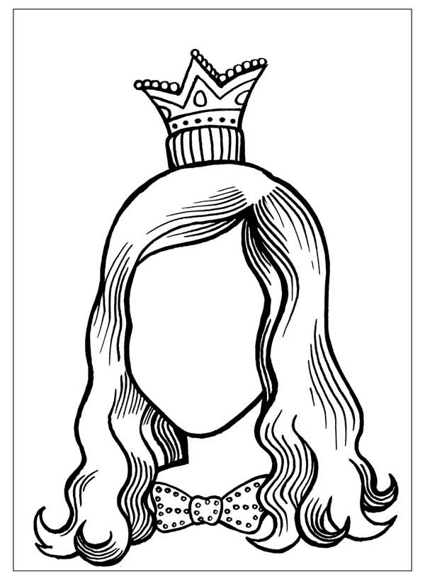 hair coloring pages - raskraskir