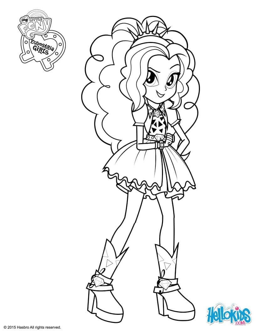 hair coloring pages - my little pony equestria girls coloring pages