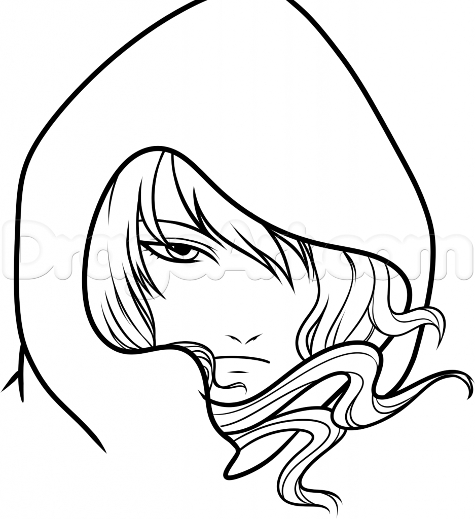 hair coloring pages - sketch of anime characters 1000 images about coloring pages tutorials on pinterest