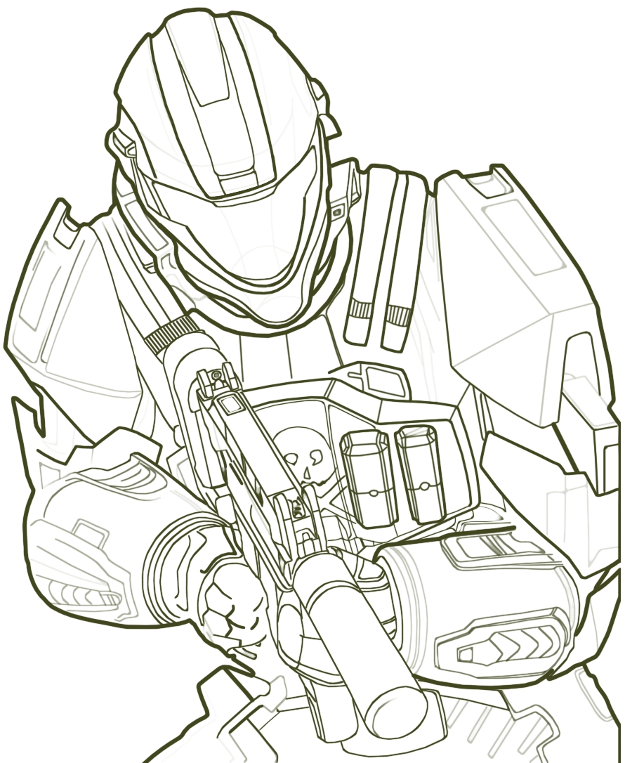 Halo Coloring Pages - Free Printable Halo Coloring Pages for Kids