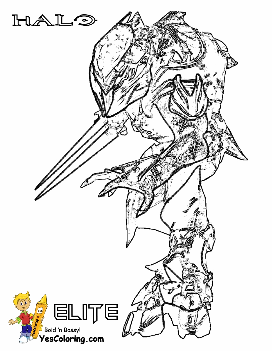 halo coloring pages - r=reach halo hunter