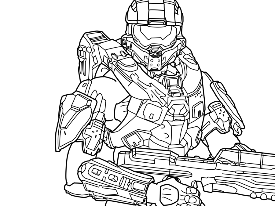 halo coloring pages - halo wars coloring pages