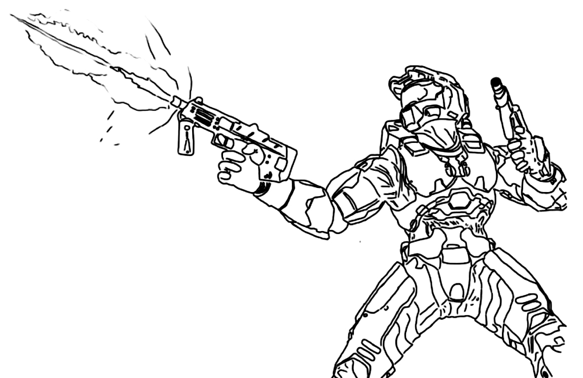 halo coloring pages - halo coloring pages