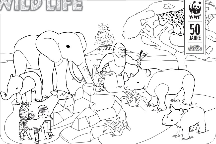 hamburger coloring page - Ausmalbilder Playmobil