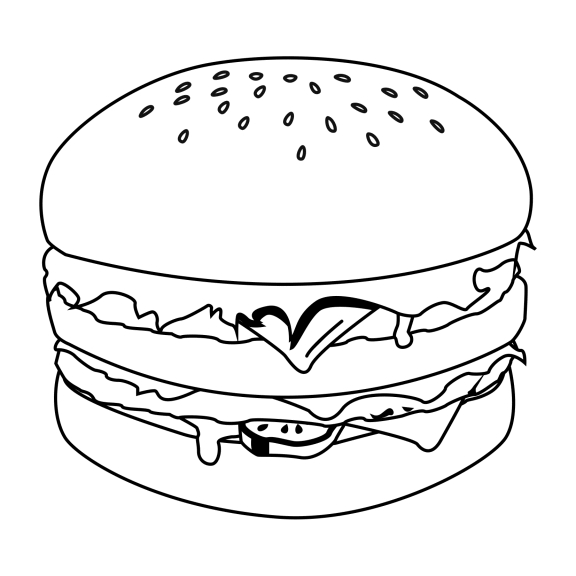 hamburger coloring page - coloriage hamburger