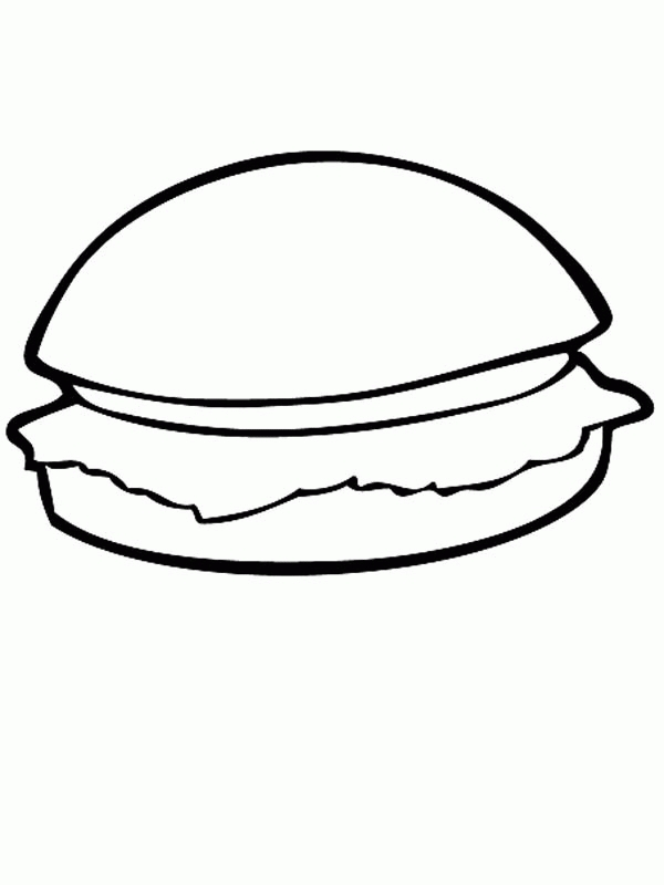 hamburger coloring page - hamburger coloring pages