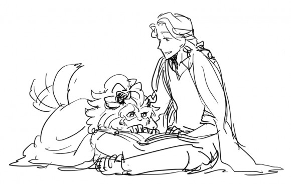 hamilton coloring pages - genderswapped beauty and the beast