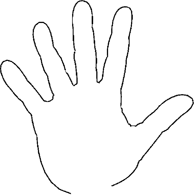 hand coloring page - q=the hand finger