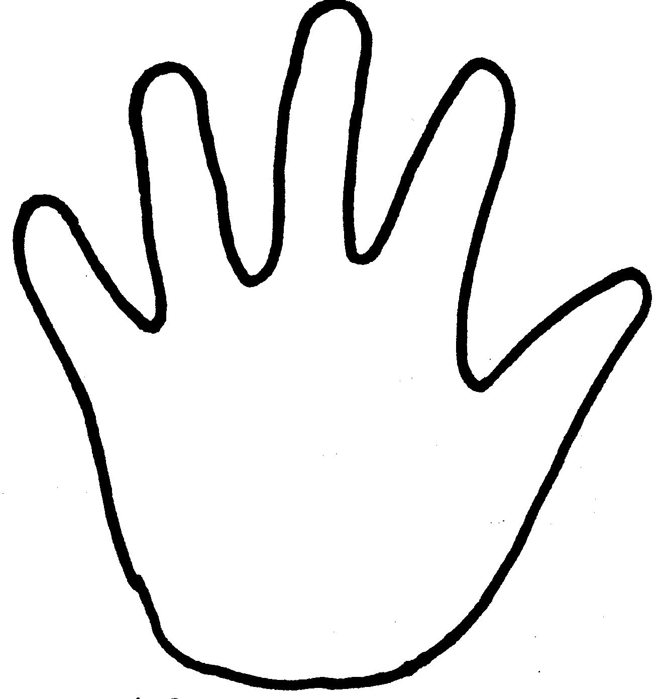 hand coloring page - outline of praying hands