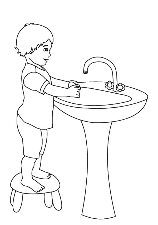 handwashing coloring pages - hand washing coloring pages for preschoolers