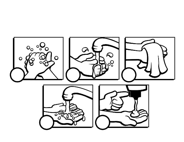 handwashing coloring pages - dand washing coloring pages