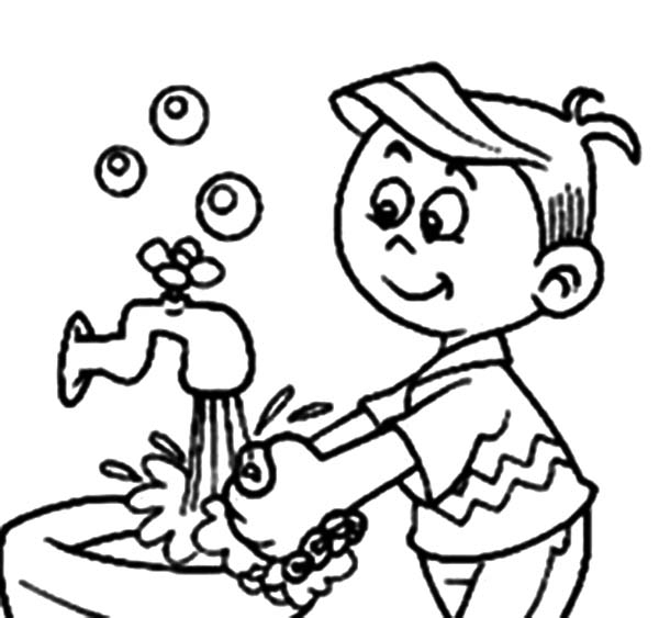 handwashing coloring pages - hand washing coloring pages
