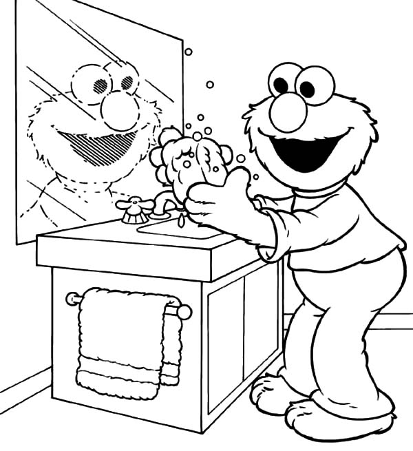 handwashing coloring pages - hand washing for kids coloring pages