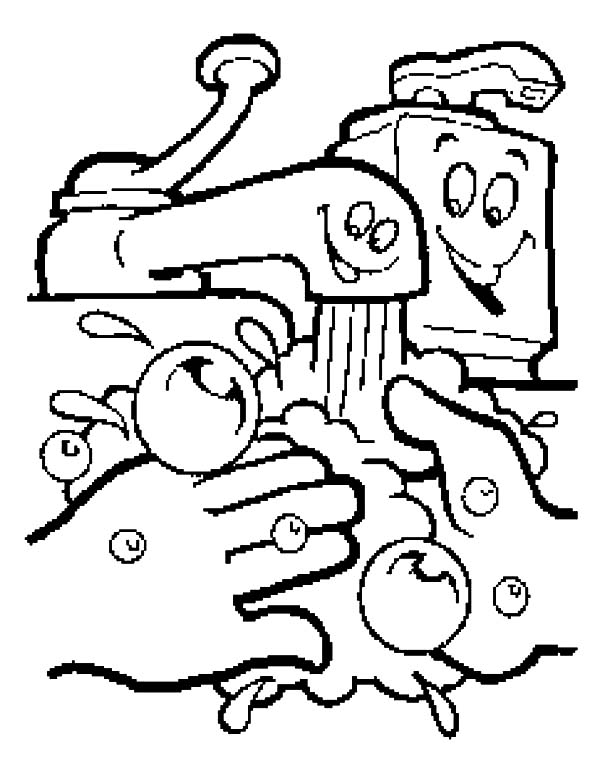 handwashing coloring pages - hand washing keep your clean coloring pages