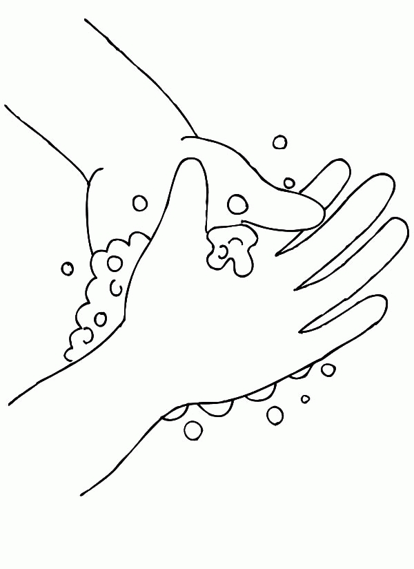 handwashing coloring pages - handwashing coloring page