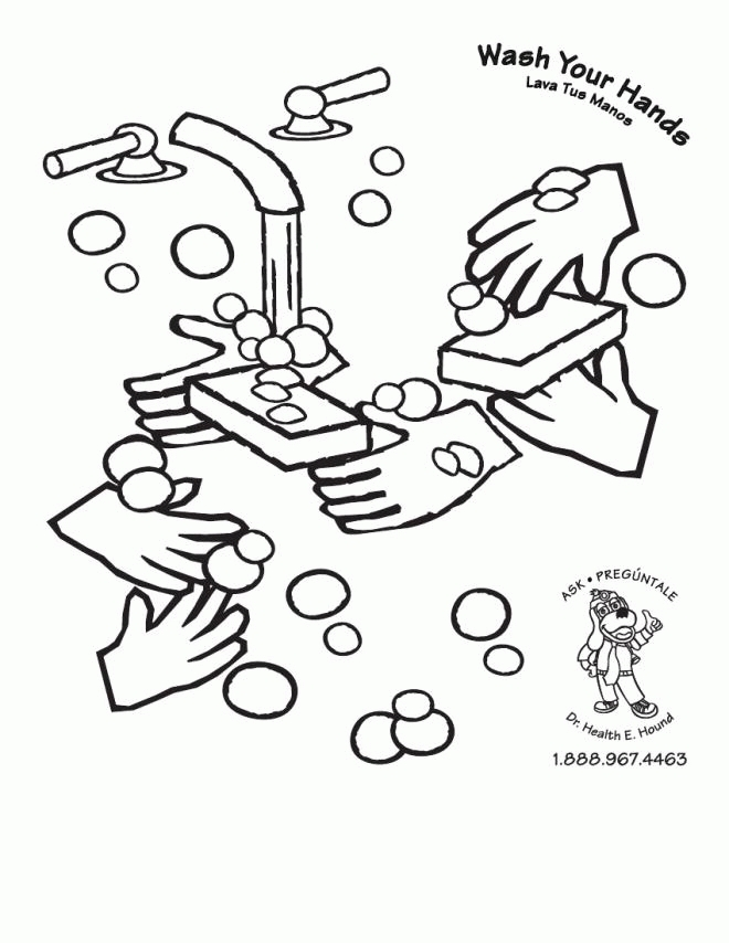 Handwashing Coloring Pages - Handwashing Coloring Page Coloring Home