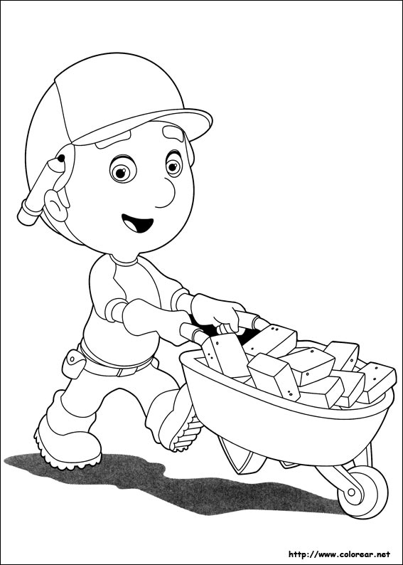 handy manny coloring pages - dibujos 9608