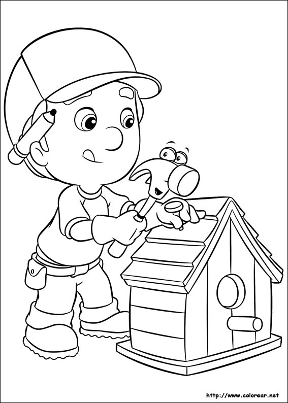 handy manny coloring pages - dibujos 9610