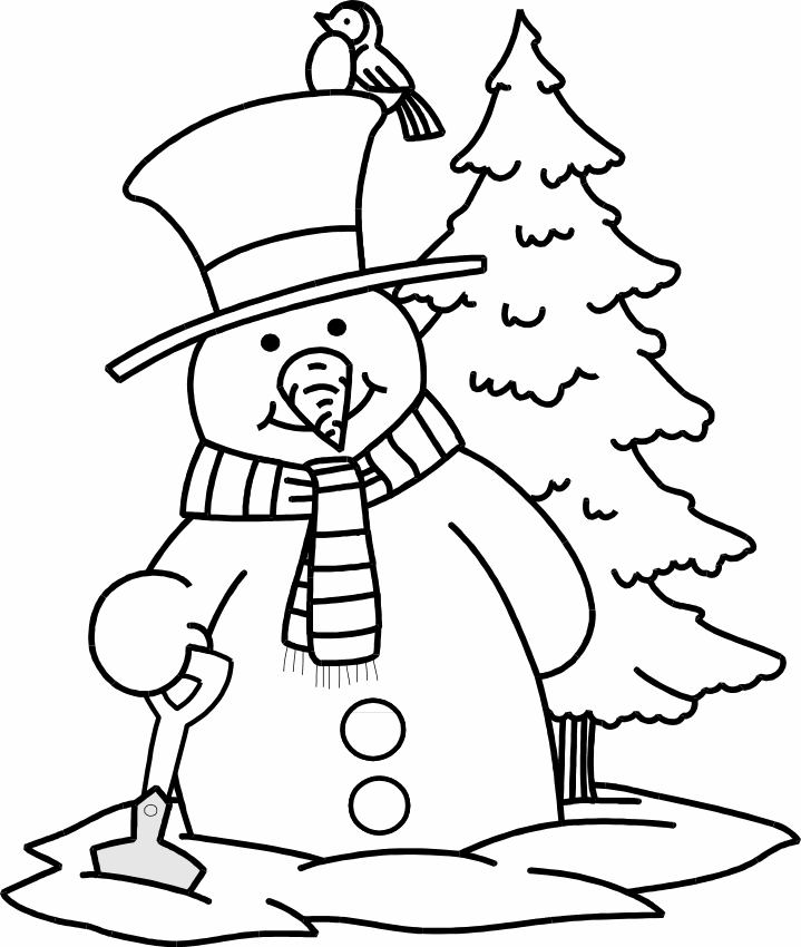hanukkah coloring pages - snowman to color