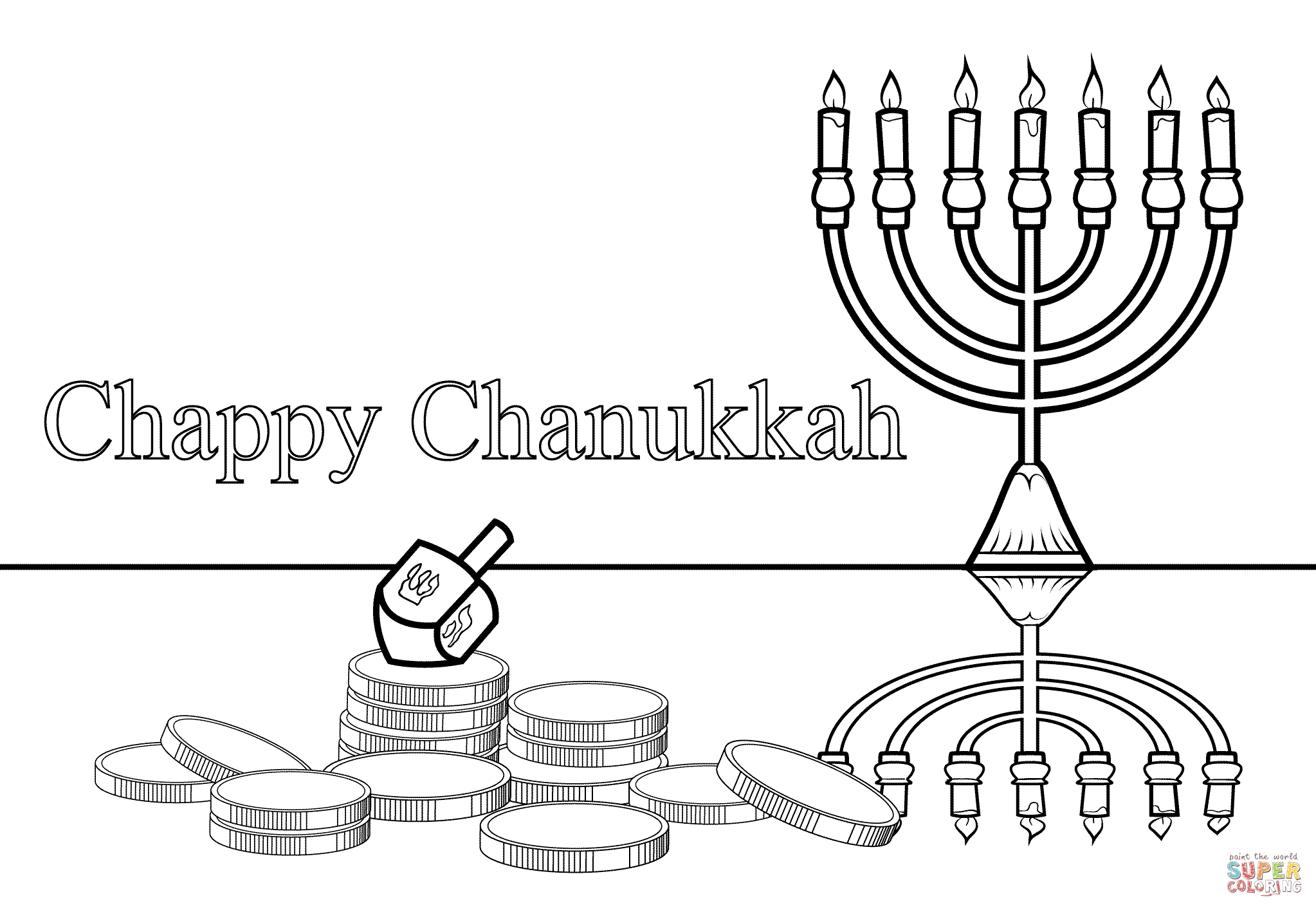 hanukkah coloring pages printable - free hanukkah coloring pages printable