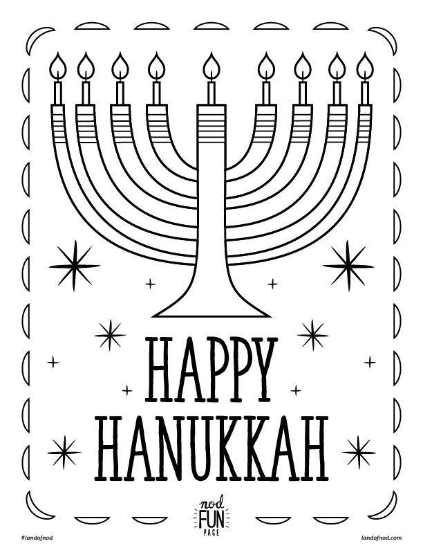 hanukkah coloring pages printable - hanukkah themed free printable coloring page