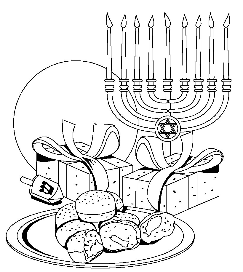 graphic relating to Hanukkah Coloring Pages Printable named 27 Hanukkah Coloring Internet pages Printable Compilation Totally free