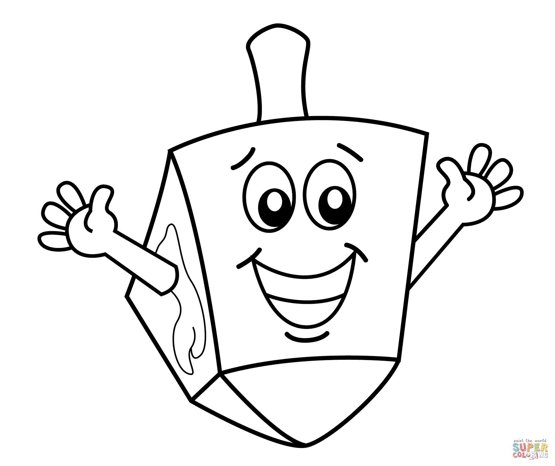 Hanukkah Coloring Pages Printable - Hanukkah Dreidel Coloring Page
