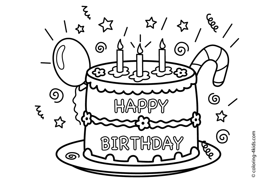28 Happy Birthday Coloring Pages Images FREE COLORING PAGES Part 2