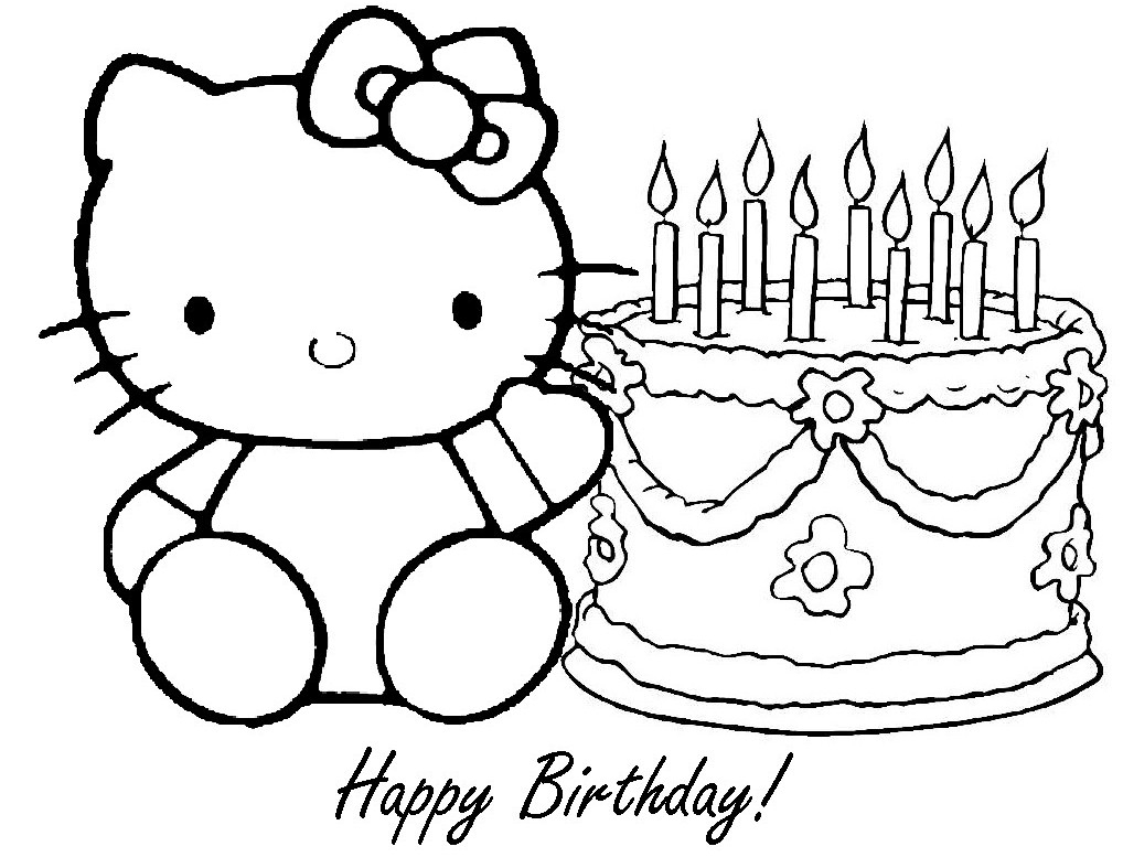 happy birthday coloring pages printable - happy birthday coloring pages happy