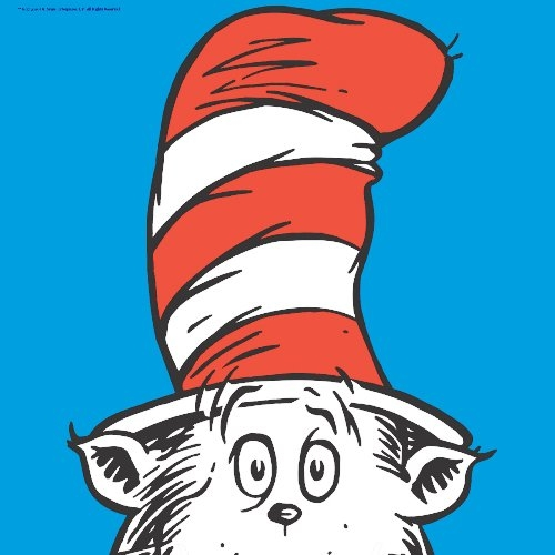 happy birthday dr seuss coloring pages - cat in the hat picture